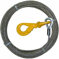 55' winch cable with self locking swivel hook