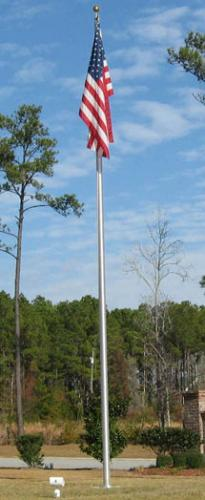 "25' x 5"" Aluminum Flagpole"