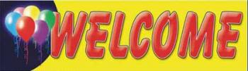 Welcome Vinyl Banner - 3' x 10' - BBL