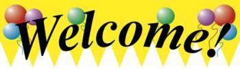 Welcome Vinyl Banner - 3' x 10' - B