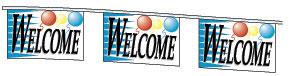 Welcome Pennant String - 30'