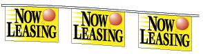 Now Leasing Pennant String - 30'