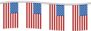 American Flag Pennant String - 60'