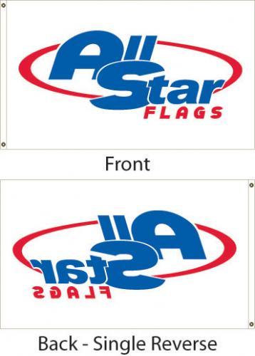 "Digitally Printed Custom Flag - 12x18"" - Single Reverse"