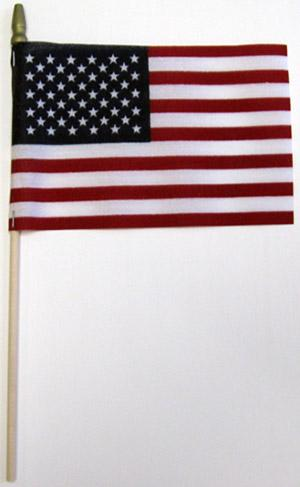 "4x6"" No-Fray American Stick Flag"