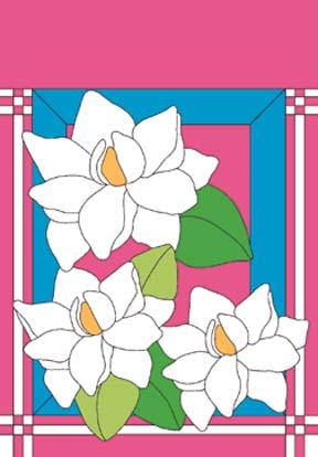 "34"" x 44"" Magnolias Decorative Banner"