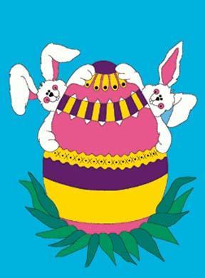 "34"" x 44"" Bunny Fun Decorative Banner"