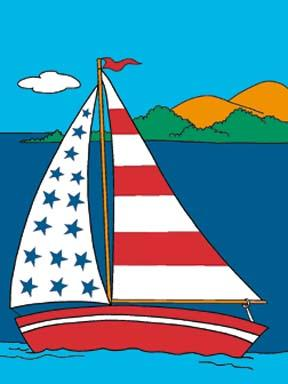 "34"" x 44"" SS Liberty Decorative Banner"