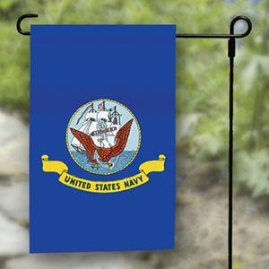 Navy Garden Flag - Nylon - 12x18""