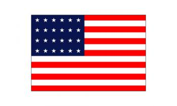 3x5' 24 Star American Flag - Nylon