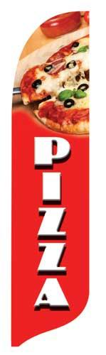 Pizza Quill Flag Kit - 2' x 11'