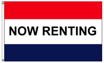 3x5' Now Renting Flag - Nylon
