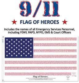 3x5' Flag of Heroes - PolyCotton