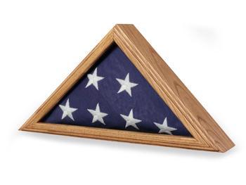 Capitol Flag Case - Oak