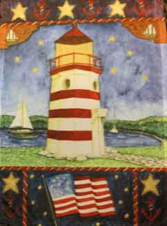 "11"" x 15"" Lighthouse Decorative Garden Banner"