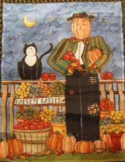 """11"""" x 15"""" Pumpkin Scarecrow Decorative Garden Banner"""