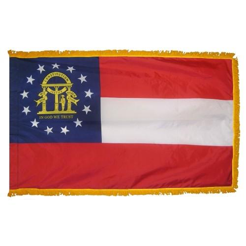 3x5' Georgia State Flag - Nylon Indoor