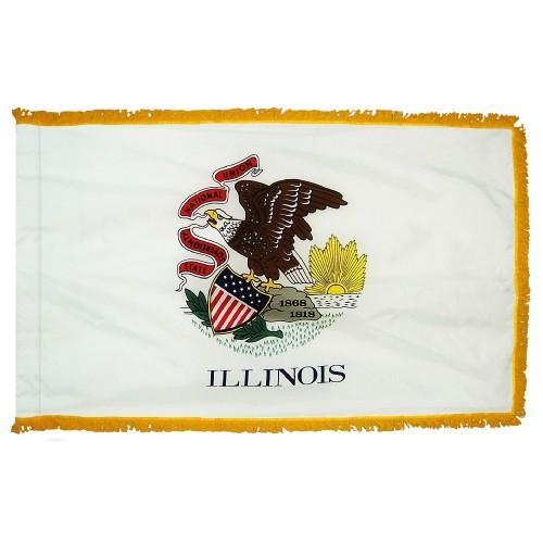 3x5' Illinois State Flag - Nylon Indoor