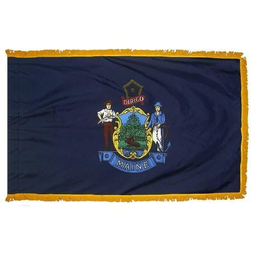 3x5' Maine State Flag - Nylon Indoor