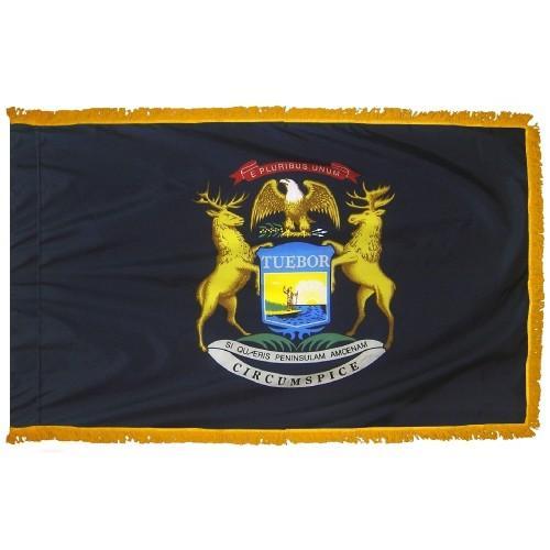 3x5' Michigan State Flag - Nylon Indoor