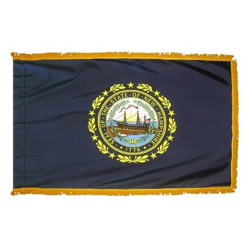 3x5' New Hampshire State Flag - Nylon Indoor