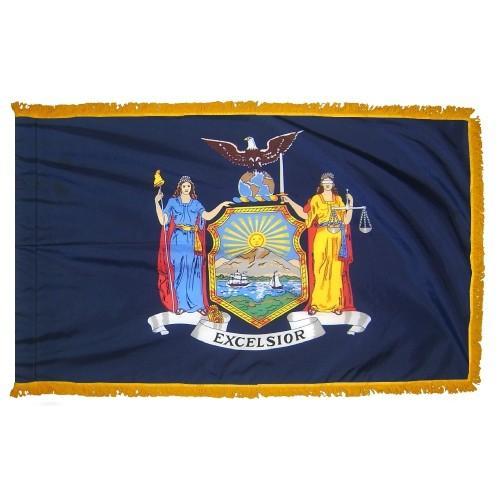 3x5' New York State Flag - Nylon Indoor