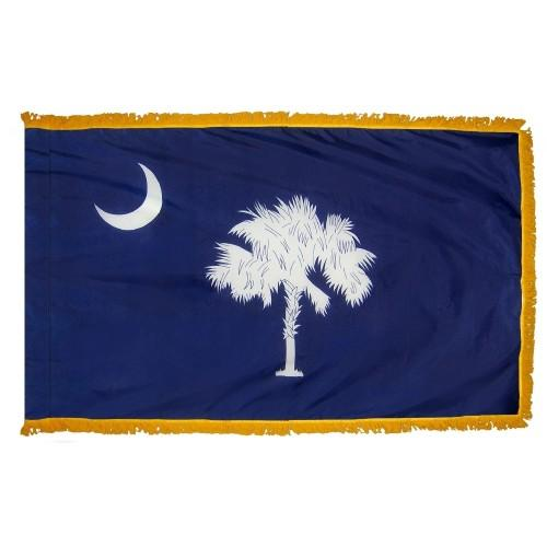 3x5' South Carolina State Flag - Nylon Indoor