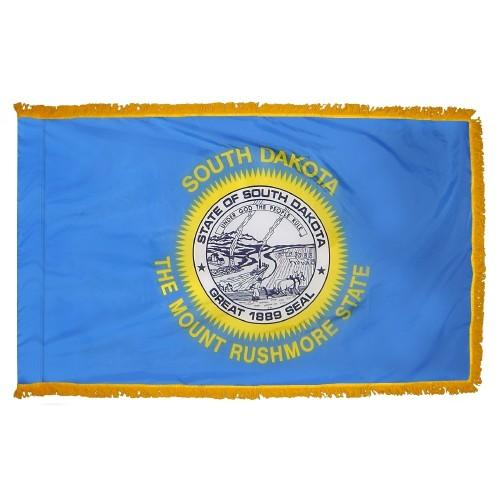 3x5' South Dakota State Flag - Nylon Indoor