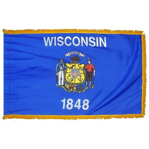 3x5' Wisconsin State Flag - Nylon Indoor