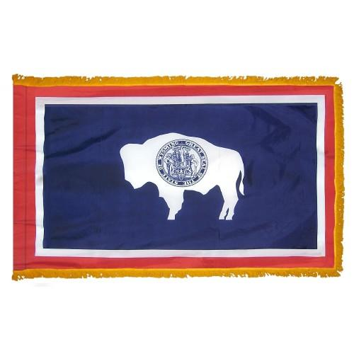3x5' Wyoming State Flag - Nylon Indoor