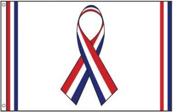 Red White and Blue Ribbon Flag