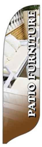 Patio Furniture Quill Flag Kit - 2' x 11'