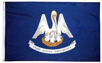 2x3' Louisiana State Flag - Nylon