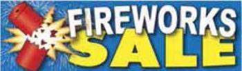 Fireworks Sale Vinyl Banner - 3' x 10' - FWKS111
