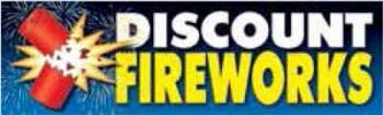 Discount Fireworks Vinyl Banner - 3' x 10' - B132