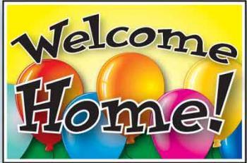 "Welcome Home Coroplast Yard Sign - 18"" x 24"" (BLNWH)"