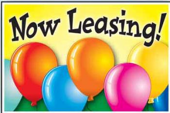 "Now Leasing Coroplast Yard Sign - 18"" x 24"" (BLNNL1)"
