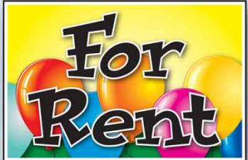 "For Rent Coroplast Yard Sign - 18"" x 24"" (BLNFR)"
