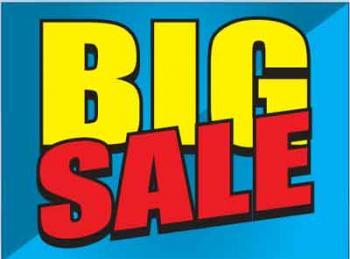 """Big Sale Coroplast Yard Sign - 18"""" x 24"""" (KWBS)"""