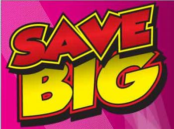 "Save Big Coroplast Yard Sign - 18"" x 24"" (KWSB)"