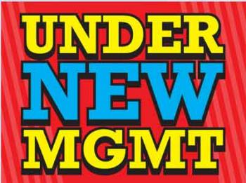 "Under New Management Coroplast Yard Sign - 18"" x 24"" (KWUNM)"