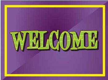 "Welcome Coroplast Yard Sign - 18"" x 24"" (KWWE)"