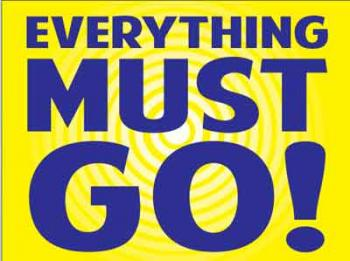 "Everything Must Go Coroplast Yard Sign - 18"" x 24"" (KWEMG)"