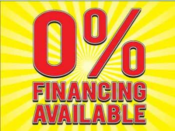 "Financing Available Coroplast Yard Sign - 18"" x 24"" (KW0FA)"