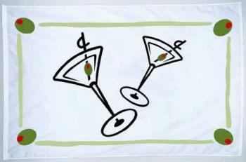 """Cocktail Fun Flag - Nylon - 12x18"""""""