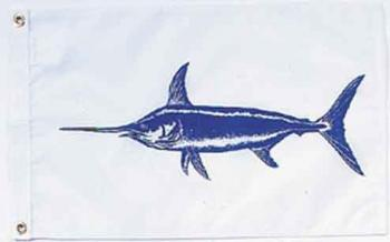 Swordfish Nautical Fun Flag - Nylon - 12x18""