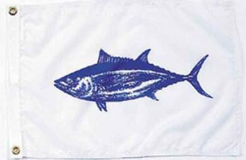 """Tuna Nautical Fun Flag - Nylon - 12x18"""""""