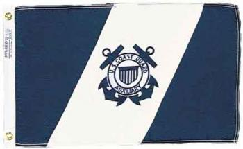 US Coast Guard Auxiliary Flag - Nylon - 12x19.5""