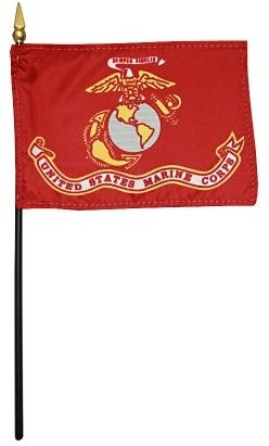 Marine Flag - Rayon Mounted Stick Flag