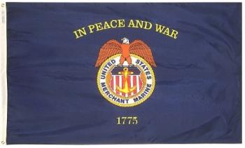 Merchant Marine Flag - Nylon - 3x5'